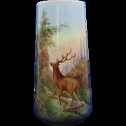 PH Leonard Austria Landscape Motif Vase with Deer/Elk (c.1890-1908)