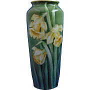 C. Tielsch Altwasser Silesia Arts & Crafts Daffodil Motif Vase (c.1895-1918)