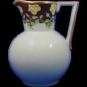 Favorite Bavaria Arts & Crafts Yellow Roses Motif Pitcher (c.1910-1940)