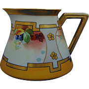"Delinieres & Co. (D&Co.) Limoges White's Art Company Chicago Raspberry Design Pitcher (Signed ""BEN.""/c.1914-1923)"