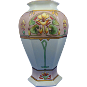 "Bernardaud & Co. (B&Co.) Limoges Arts & Crafts Floral Design Vase (Signed ""N. Mayrose""/c.1914-1930)"