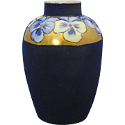 Bavaria Arts & Crafts Pansy Motif Vase (c.1910-1930)