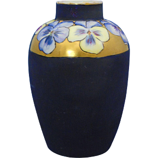 Bavaria Arts & Crafts Pansy Motif Vase (c.1910-1930)