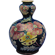 Royal Bonn Germany Old Dutch Pansy Design Vase (c.1890-1923)