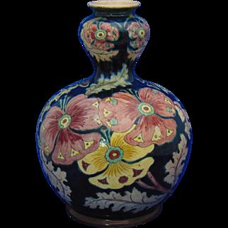 Royal Bonn Germany Old Dutch Pansy Design Vase (c.1890-1923)