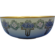 Willets Belleek Enameled Floral Design Centerpiece Bowl (c.1880-1904)