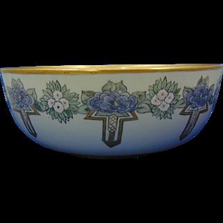 Willets Belleek Enameled Floral Design Centerpiece Bowl (c.1880-1904)