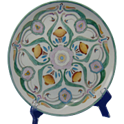 Hutschenreuther Bavaria Arts & Crafts Abstract Floral Design Plate (c.1900-1920)