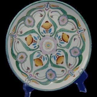 Hutschenreuther Bavaria Arts & Crafts Abstract Floral Design Plate (c.1900-1920)