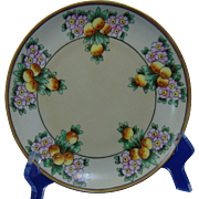"Krister Porcelain Manufactory (KPM) Arts & Crafts Citrus Motif Plate (Signed ""Burnham""/c.1904-1927)"