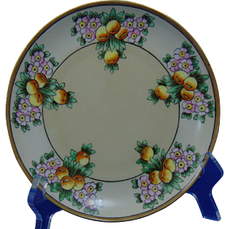 "Krister Porcelain Manufactory (KPM) Arts & Crafts Citrus Motif Plate (Signed ""Burnham""/c.1904-1927)"