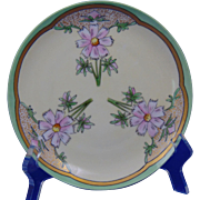 "Krister Porcelain Manufactory (KPM) Arts & Crafts Cornflower Motif Plate (Signed ""Burnham""/c.1904-1927)"