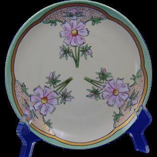 "Krister Porcelain Manufactory (KPM) Arts & Crafts Cornflower Motif Plate (Signed ""Burnham""/c.1904-1927)"