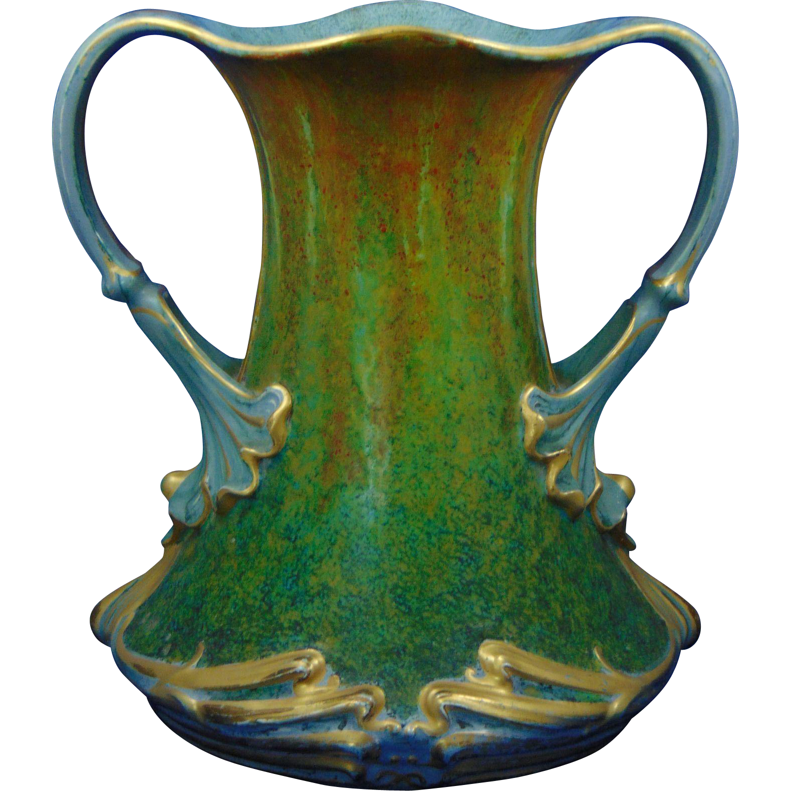 "Royal Bonn Germany ""Gres"" Series Art Nouveau Handled Vase (c.1890-1923)"
