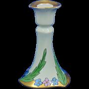 """Paroutaud Freres (P&P) La Seynie Limoges Arts & Crafts Floral Motif Candlestick (Signed """"E.E.E.""""/c.1903-1917)"""