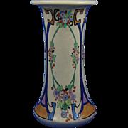 American Satsuma Enameled Floral Design Vase (c.1910-1920)
