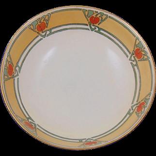 """Tressemann & Vogt (T&V) Limoges Arts & Crafts Fruit Design Footed Centerpiece Bowl (Signed """"C.D.L.""""/Dated 1914)"""