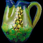 Reisner Stellmacher & Kessel (RStK) Amphora Austria Arts & Crafts Floral Motif Pitcher (c.1900-1904)