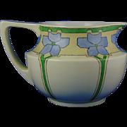"""Jean Pouyat (JP) Limoges Arts & Crafts Floral Design Cider/Lemonade Pitcher (Signed """"E.A.R.""""/c.1890-1932)"""