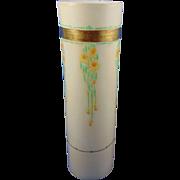 """Oscar & Edgar Gutherz (O&EG) Austria Arts & Crafts Floral Motif Vase (Signed """"ES""""/c.1899-1918)"""