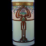 """Rosenthal Selb Bavaria Arts & Crafts Floral Motif Vase (Signed """"Pokorny""""/c.1910-1930)"""