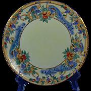 "Thomas Bavaria Arts & Crafts Peacock & Fruit Design Plate (Signed ""E.J. Lutz""/c.1910-1930)"