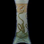 """Heinrich & Co. (H&Co.) Bavaria """"Pond Lilies"""" Design Vase (Signed """"AKW""""/c.1907-1930)"""