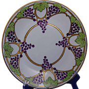 Delinieres & Co. (D&Co.) Limoges Arts & Crafts Grape Design Plate (c.1894-1910)