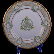 Hutschenreuther Bavaria Arts & Crafts Dandelion Motif Plate/Charger (Signed/c.1887-1930)