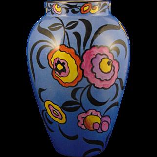 Bernardaud & Co. (B&Co.) Limoges Art Deco Floral Motif Vase (c.1900-1914)