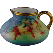 "Classic Bavaria Arts & Crafts Currant Motif Pitcher (Signed ""Edythe C. Keckley""/c.1910-1940)"