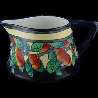 Heinrich & Co. (H&Co.) Bavaria Arts & Crafts Apple Motif Pitcher (c.1900-1930)