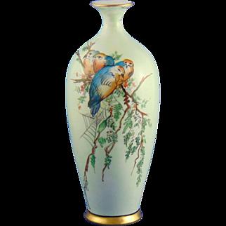 "Oscar & Edgar Gutherz (O&EG) Austria Arts & Crafts Bird Motif Vase (Signed ""Leona M. Forsythe""/Dated 1919)"