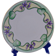 "Oscar & Edgar Gutherz (O&EG) Austria Violet Motif Plate (Signed ""L.B.""/c.1899-1918)"
