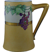 "Bernardaud & Co. (B&Co.) Limoges Arts & Crafts Lustre Grape Motif Tankard/Mug (Signed ""Kathleen E. Drolin""/Dated 1915)"