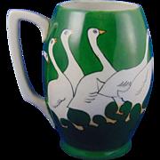 Bavaria Arts & Crafts Geese Motif Tankard/Mug (c.1910-1940)