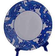 Haviland Limoges Arts & Crafts Blue Floral Motif Plate (c.1894-1931)