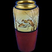 CT Altwasser Silesia Arts & Crafts Bird Design Vase (Signed/c.1875-1934)