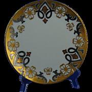 "Haviland Limoges Stouffer Studios Gold & Platinum Plate (Signed ""Hon."" for Ethel R. Honey/c.1906-1914)"