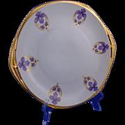 "Moritz Zdekauer (MZ) Altrohlau CMR Czechoslovakia Violet Design Plate (Signed ""Edith Hausman""/Dated 1924)"