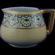 """Bernardaud & Co. (B&Co.) Limoges Arts & Crafts Cider Pitcher (Signed """"E.H.""""/c.1914-1930)"""