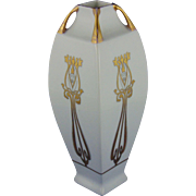 Austria Arts & Crafts Gold & White Design Vase (c.1910-1918)