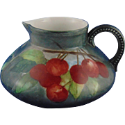 Jean Pouyat (JP) Limoges Arts & Crafts Crab Apple Motif Pitcher (c.1890-1932)