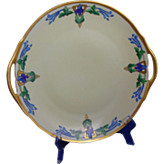 "Thomas Bavaria Arts & Crafts Floral Design Handled Plate (Signed ""Dorothy E. Spittler""/Dated 1925)"