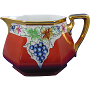 Bernardaud & Co. (B&Co.) Limoges Grape Motif Lemonade/Cider Pitcher (Signed/Dated 1932)