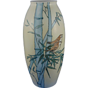 Porcelain Limousine (PL) Limoges Arts & Crafts Bird Motif Vase (c.1905-1939)
