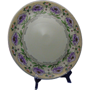 "Bavaria Arts & Crafts Floral Design Plate/Charger (Signed ""P.B. Salisbury""/c.1912-1930)"
