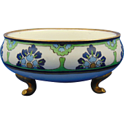 William Guerin (WG&Co.) Limoges Arts & Crafts Floral Motif Footed Jardinière/Bowl (c.1900-1932)