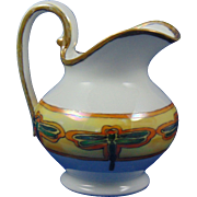Tressemann & Vogt (T&V) Limoges Arts & Crafts Lustre Dragonfly Design Pitcher (c.1892-1907)
