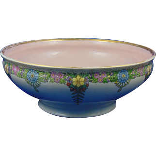 Gerard, Dufraisseix & Abbott (GDA) Limoges Arts & Crafts Floral Design Bowl (c.1900-1941)